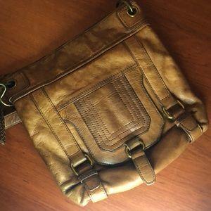 The Sak brown leather shoulder bag